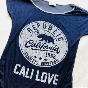 M 💫 Cali Love Republic California Surf Team Navy